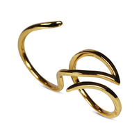 Swoonery-Yellow Gold Le Phoenix Double-Finger Ring