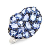 Swoonery-Wavy Blue Sapphire Ring