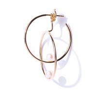 Swoonery-Double Rondeur Pearl Earring