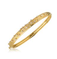 Yellow Gold Plisse Bracelet