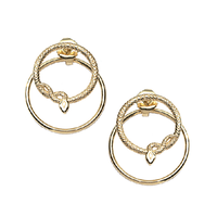 Swoonery-Snake Orbit Earrings