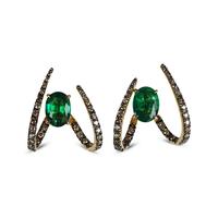 Swoonery-Le Phoenix Single Claw Emerald Earrings