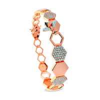 Swoonery-Queen Bee Honeycomb Bracelet