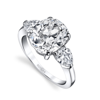 Swoonery-Cushion Cut 4.40ct Diamond Classico Ring