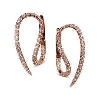 Swoonery-Le Phoenix Hook Diamond Earrings