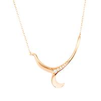 Swoonery-Rose Gold Severin Diamond Pendant
