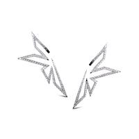 Swoonery-White Gold Diamond Origami Earrings