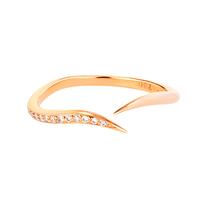 Swoonery-Diamond Serpentine Sleeps Stackable Ring