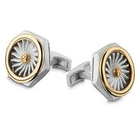 Swoonery-Nut Turbine Cufflinks
