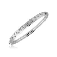 Swoonery-White Gold Plisse Bracelet
