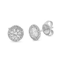 Swoonery-Halo Diamond Studs