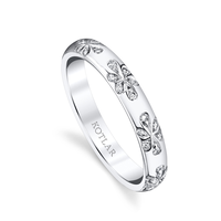 Swoonery-Floral Artisan Pave Band