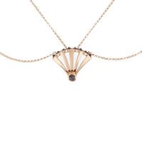 Swoonery-Rose Gold & Black Diamond Sumerian Spike Pendant
