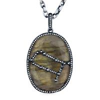 Labradorite Constellation Pendant
