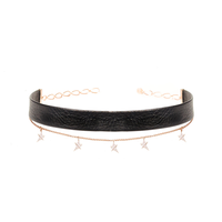 Star Chain Leather Choker