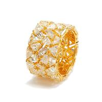 Swoonery-Haute Couture Fancy-Cut Diamond And 18K Yellow Gold Eternity Band