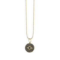 Swoonery-Small Evil Eye Medallion Charm