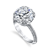 Swoonery-Round Brilliant 5.19ct Crown Ring