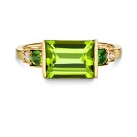 BoDeco Baguette Ring