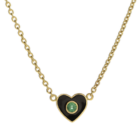 Swoonery-Holly Dyment Enamel Black Heart Necklace