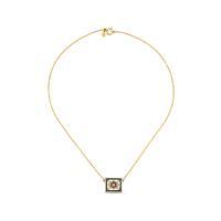 20K Dainty Tile Necklace