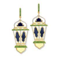 Swoonery-20K Lantern Huggie Earrings