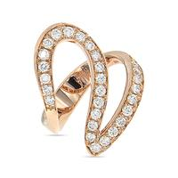 Rose Gold And Diamond Ivy 1 Ring