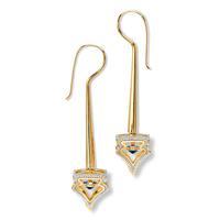 Swoonery-20K Lantern 3-D Arch Earrings
