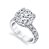 Swoonery- Round Brilliant 7.31ct French Cut Ring