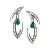 Swoonery-Le Phoenix Volare II Emerald and Diamond Earrings