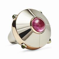 Swoonery-UFO Pink Tourmaline Ring