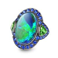 Swoonery-OPAL AND TSAVORITE RING