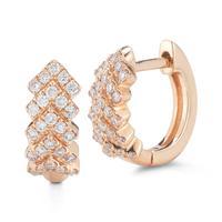 Kathryn Lynn Rose Gold Hoop Earrings