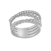 Swoonery-White Gold Bubbles Ring