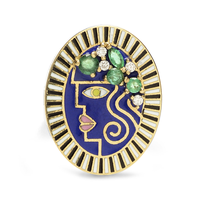 Swoonery-Holly Dyment Holly Blue Enamel Portrait Ring