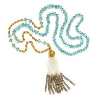 Swoonery-Rondelle Aquamarine Rosary