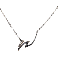 Swoonery-Le Phoenix Claw I Black and White Diamond Necklace