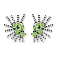 Swoonery-Parrot Mini earrings - Tzavorite Black Rhodium