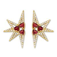 Swoonery-Shine Mini earrings - Ruby