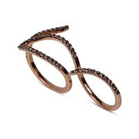 Swoonery-Le Phoenix Double-Finger Brown Diamond Ring