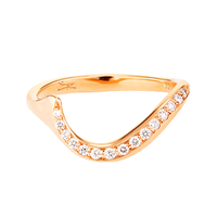 Swoonery-Rose Gold Serpentine Sleeps Ring