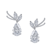 Swoonery-Pear Shape & Marquise Diamonds The Vault Drop Earrings
