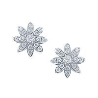 Swoonery-Flower Diamond Studs
