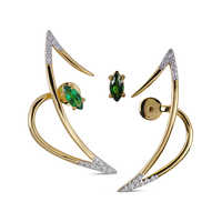Swoonery-Le Phoenix Zeal II Tsavorite and Diamond Earrings