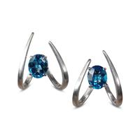 Swoonery-Le Phoenix Single Claw Blue Topaz Earrings