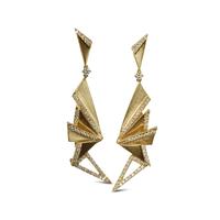 Swoonery-Origami Fan Drop Earrings