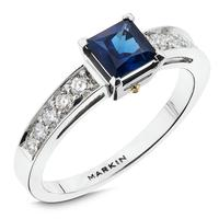 Swoonery-Sapphire Cantilever Bridge Ring