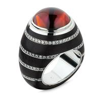 Swoonery-Citrine Ebony Ring