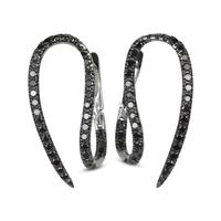 Swoonery-Le Phoenix Hook Black Diamond Earrings
