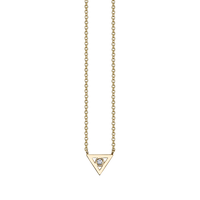 Swoonery-Bezel Triangle Necklace